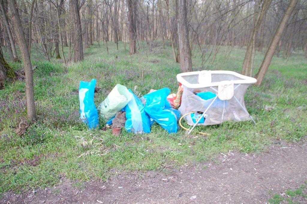 Az illegális hulladéklerakat az erdő szélén. Fotó: hulladekvadasz.hu