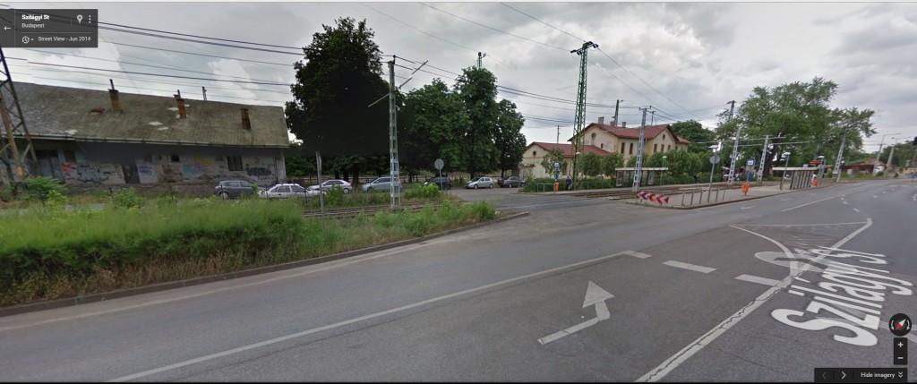 A vasútállomás a Google Maps szerint 2014-ben. Fotó: Google Maps