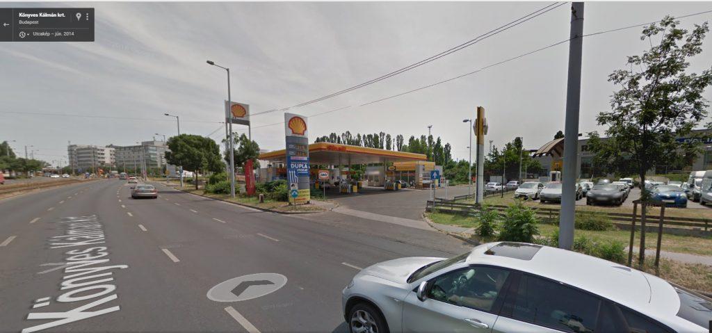 A Google Maps szerint 2014-ben a helyszínen egy Shell benzinkút üzemelt. Fotó: Google Maps