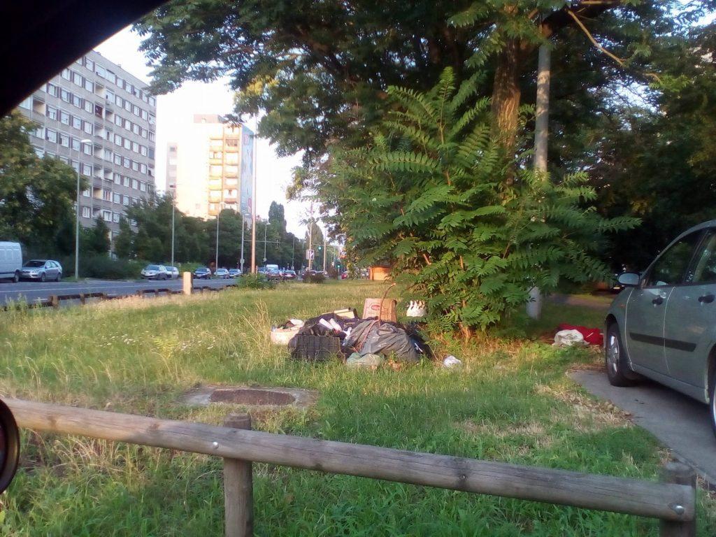 Az Andor utca mellett elhelyezett kisteherautónyi szemét. Fotó: hulladekvadasz.hu