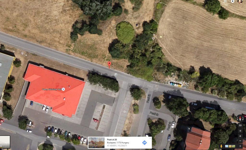 A 2012-es műholdfelvételek tanulsága szerint már akkor is szemetes volt a terület. Fotó: Google Maps