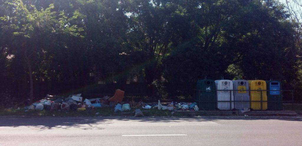 A Vágóhíd utcai szelektív hulladékgyüjtő. Fotó: hulladekvadasz.hu