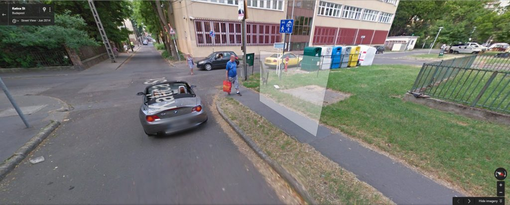 2 éve a Google Maps szerint létezett még a szelektív hulladékgyűjtő. Fotó: Google Maps