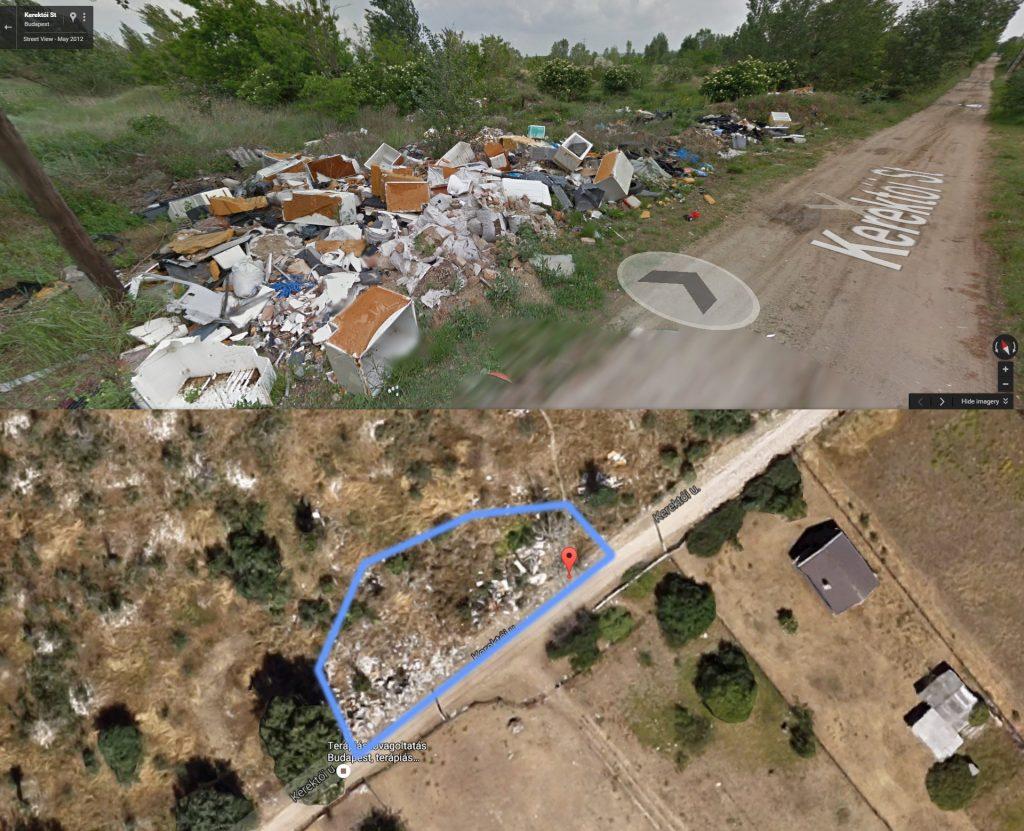 A Google Maps 2012-es felvétele. Fotó: Google Maps