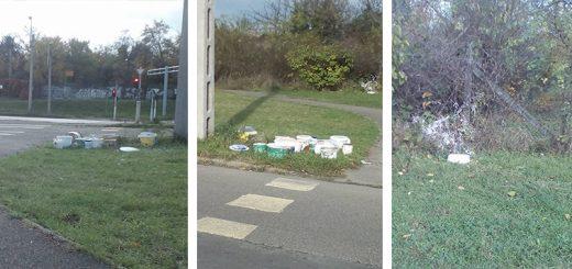 Veszélyes hulladék, ipari vödrök az Egér út mentén (Frissítve)
