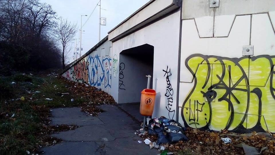 Záporoznak A Gubacsi út állapota kritikán aluli. Fotó: hulladekvadasz.hu