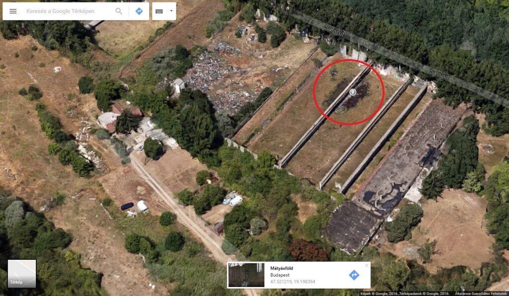 A Google Maps szerint itt már korábban is volt hasonló tevékenység. Fotó: Google Maps