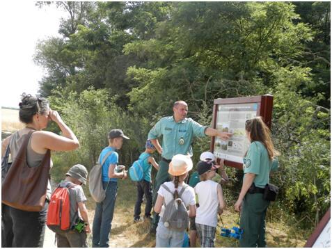 környezeti nevelés Túra a tanősvényen a Természetvédelmi Őrszolgálat szervezésében. Fotó: Természetvédelmi Őrszolgálat