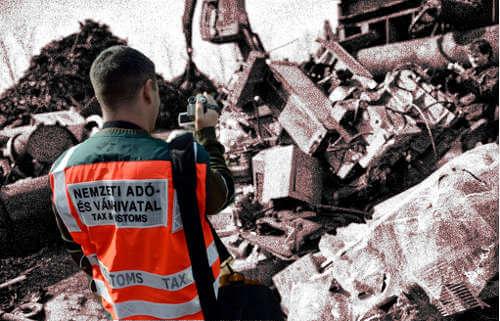 Vácon Illegális fémtelepet felszámolása. Kép illusztráció. Fotó: biztonsagpiac.hu