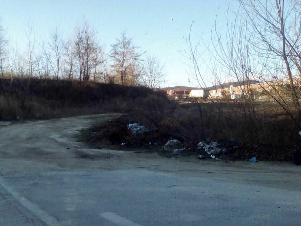 A helyszín meghatározását segítő épületek a háttérben. Fotó: hulladekvadasz.hu