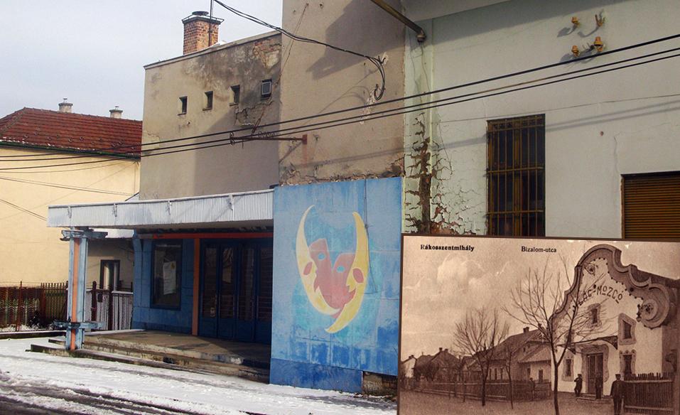 Világ Mozi A képeslapon megörökített egykori dicső és a mostani pusztuló állapot. Fotó: hulladekvadasz.hu