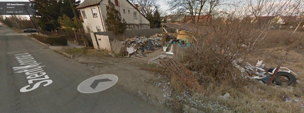 2012 utca kép a Google Mapson. A bejelentő szerint semmi se változott. Fotó Google Maps