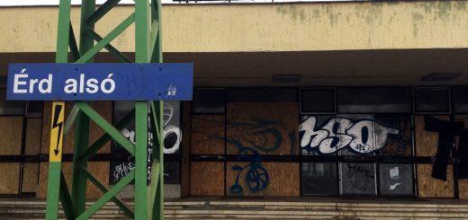 Évek óta használaton kívül pusztul az Érd Alsó vasútállomás épülete
