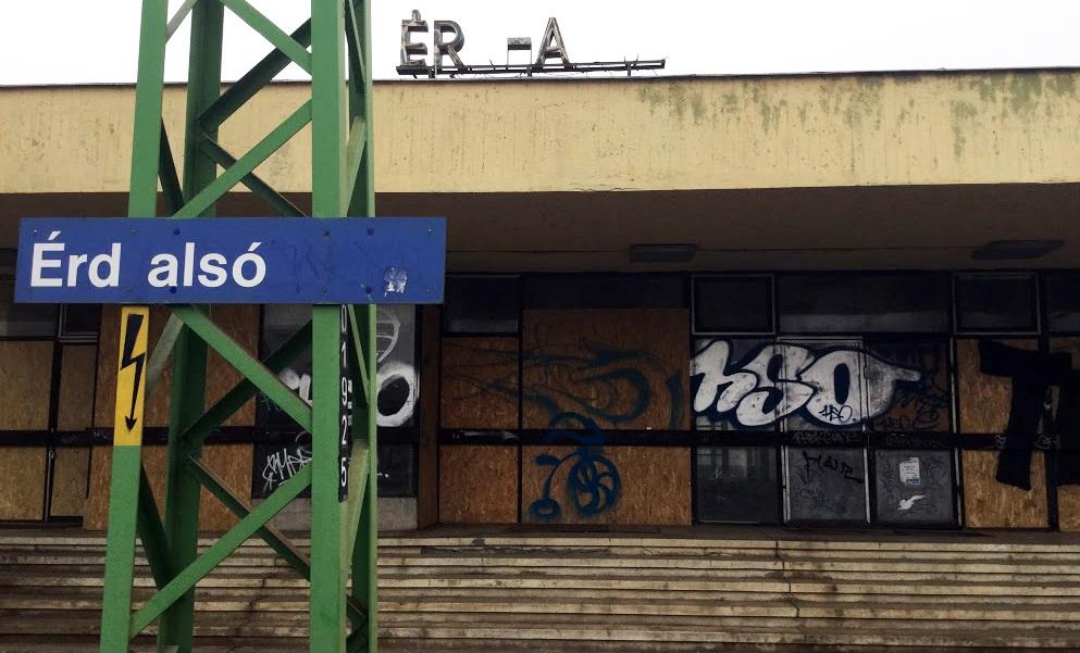 érd felső vasútállomás térkép Évek óta használaton kívül pusztul az Érd Alsó vasútállomás  érd felső vasútállomás térkép