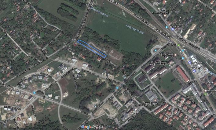 A Solymárvölgyi út bejelentett szakasza. / Fotó: Google Maps