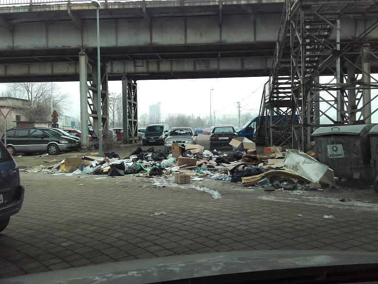 A Közvágóhíd Hévmegálló melletti híd alatti állapotok. / Fotó: hulladekvadasz.hu