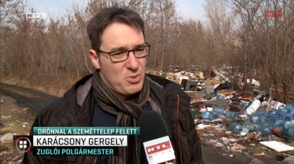 Zugló polgármestere az helyszíni riportban. / Fotó: Rtl.hu