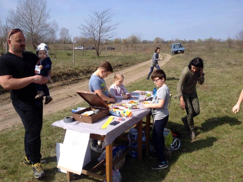 Az újrahasznosítás témaköréhez kapcsolódó műhelyfoglalkozás is volt a helyszínen. / Fotó: facebook.com/delvideki.foldikutya