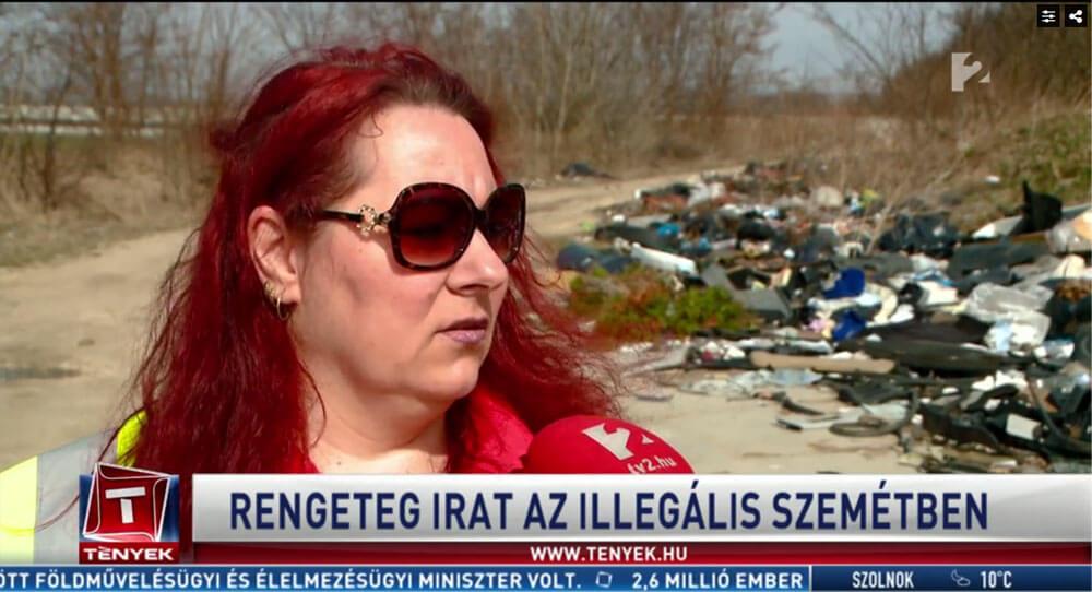 Koszta Andrea, Hulladékkommandó Társadalmi Járőrszolgálat. / Fotó: tv2.hu