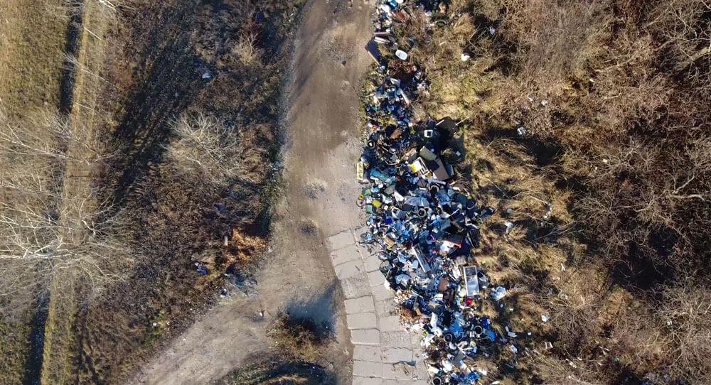 Légifelvétel a kialakult helyzetről. / Fotó: hulladekvadasz.hu