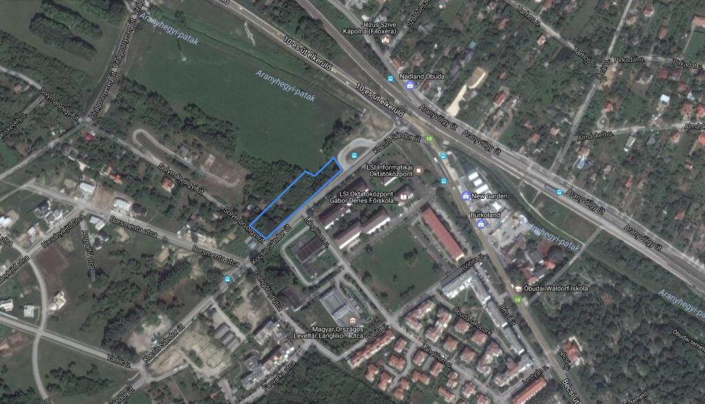 A Csúcshegy hulladékzónája. / Fotó: Google Maps
