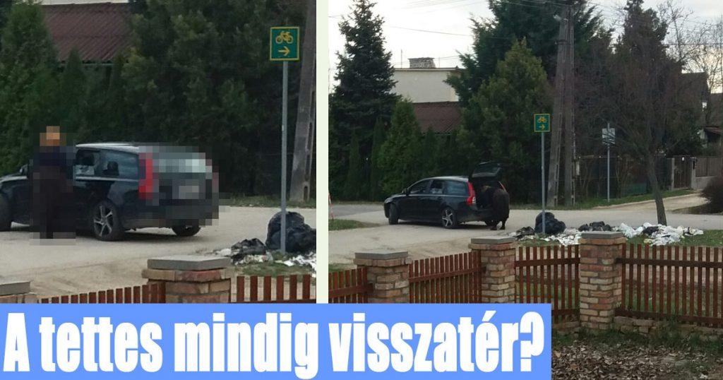 Szemetelő személyről készült eredeti képeket a hatóságoknak továbbítottuk. / Fotó: hulladekvadasz.hu