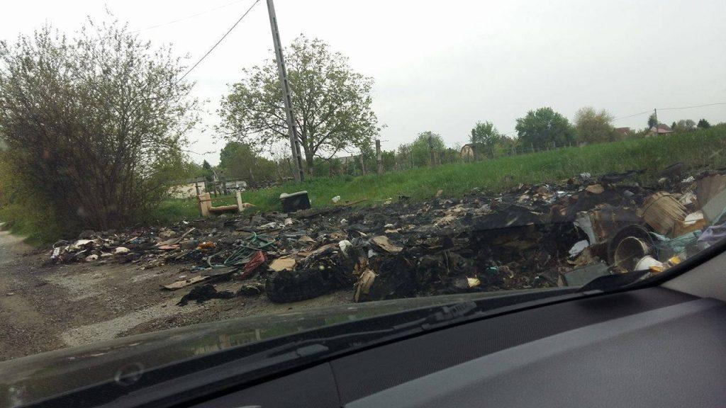 Tűz utáni állapotok. / Fotó: hulladekvadasz.hu