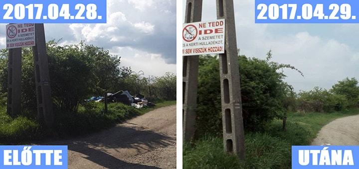 Diósd Önkormányzata egy nap alatt elszállította az illegális hulladéklerakatot