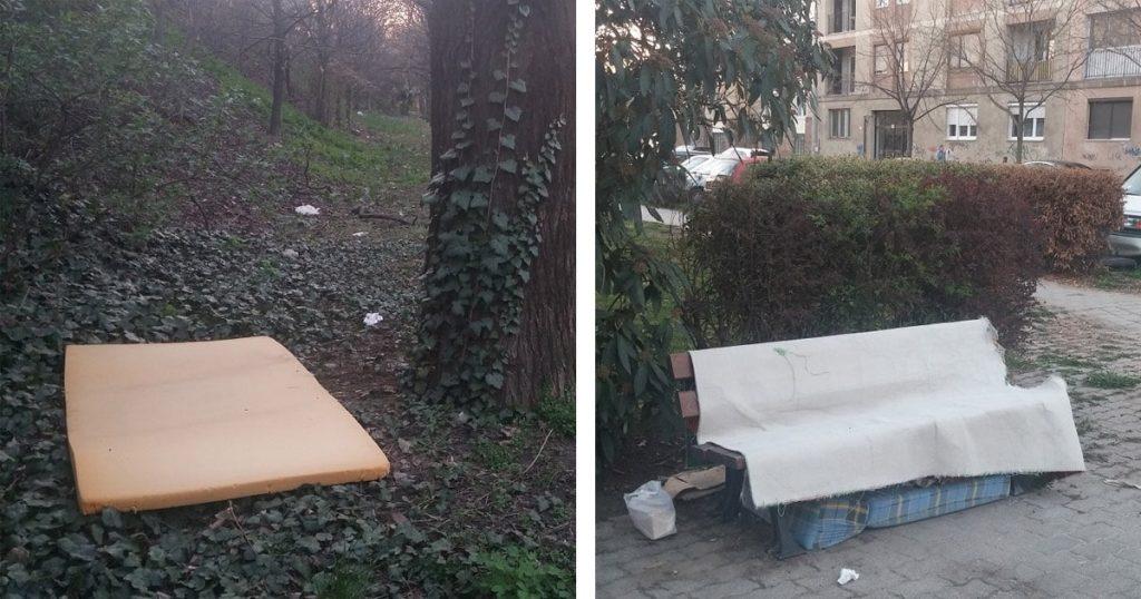 Otthonos megoldás a sétányon, de nem mindenki örül neki. / Fotó: hulladekvadasz.hu