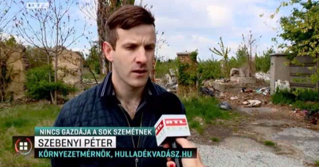 Soroksári szeméttelep előtt, Szebenyi Péter, környezetmérnök. / Fotó: Rtl.hu