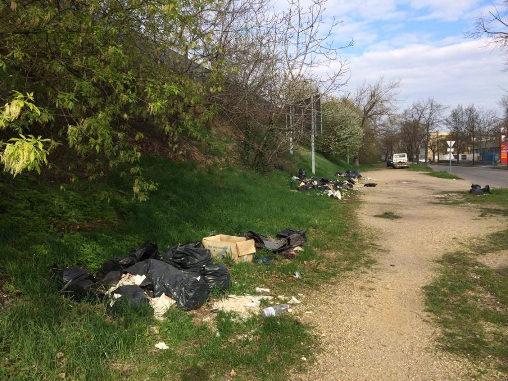 A Mexikói út mentén elszaporodtak az illegális hulladéklerakások. / Fotó: hulladekvadasz.hu