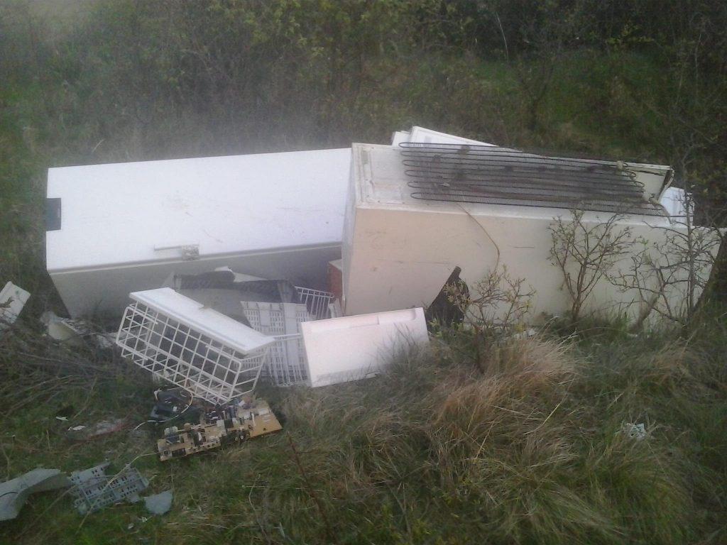 A háztartási készülékeket lényegében (még) nem belezték ki. / Fotó: hulladekvadasz.hu