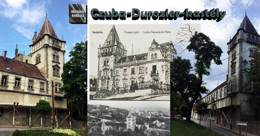A Czuba kastély egykor és most. Fotó: hulladekvadasz.hu