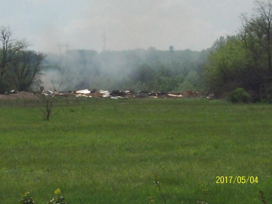 Ivacs városrésztől szinte pár száz méterre folyik a fahulladék égetése. / Fotó: hulladekvadasz.hu