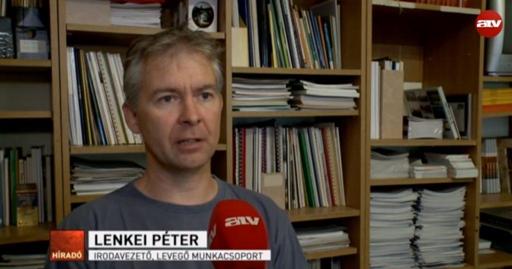 Lenkei Péter, a Levegő munkacsoport irodavezető. / Fotó: Atv.hu