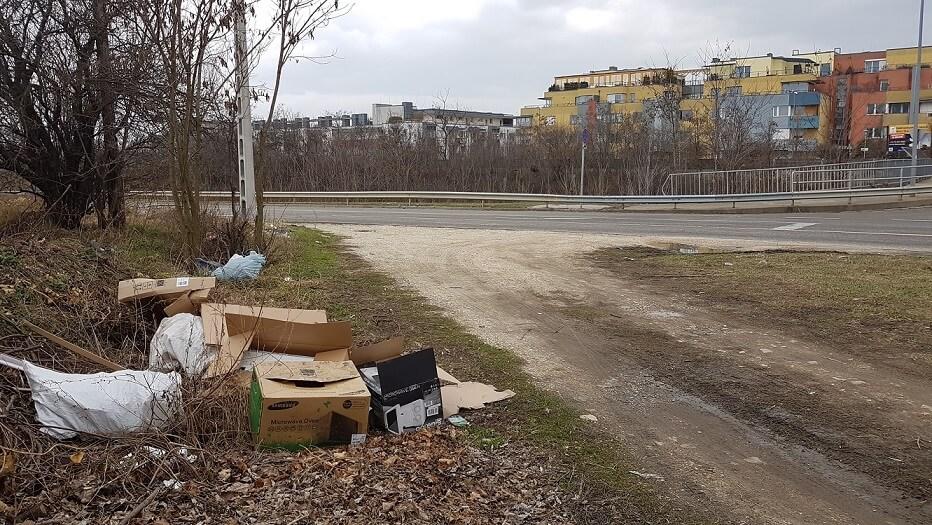 Háttérben a Újbuda-Tóváros lakópark. / Fotó: hulladekvadasz.hu