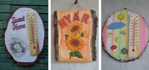 Fa dekoráció fatörzs szeletekből - Csempésszünk természetet otthonunkba!