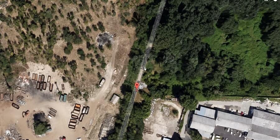 A Google Maps műholdképe 2012-ből. / Fotó: Google Maps