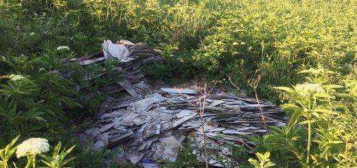 Bekecs határában építési hulladék