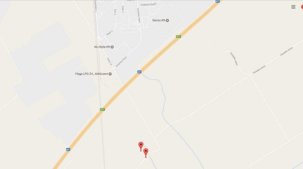A bejelentés helyszínei. / Fotó: Google Maps