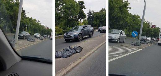 BAH csomópont pofátlan szemétlerakásai Budapesten
