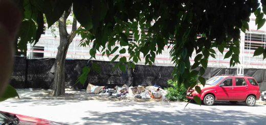 Diószeghy utca illegális hulladéklerakatai