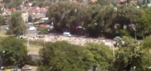 Gvadányi út hatalmas lomtalanítási mocska Zuglóban (videóbejelentés)