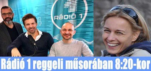 Rádió 1 Reggeli Show műsorában Tóth Andi