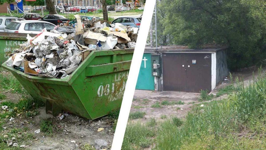 Rákospatak utca és a Francia úti korábbi takarítás. / Fotó: hulladekvadasz.hu