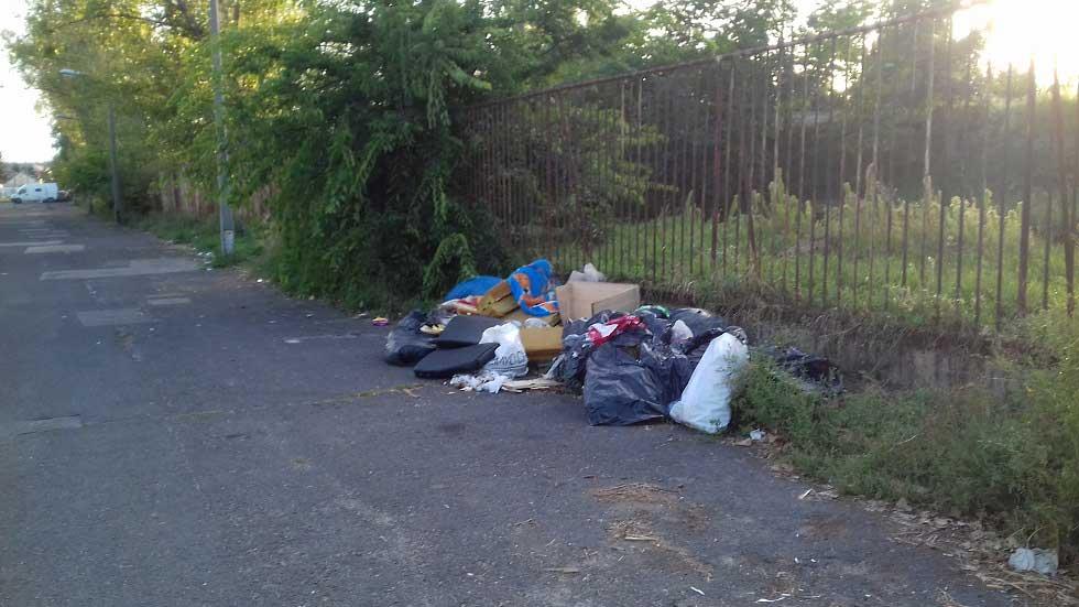 Elhagyatott kis utca ideális célpontja a szemetelőknek. / Fotó: hulladekvadasz.hu
