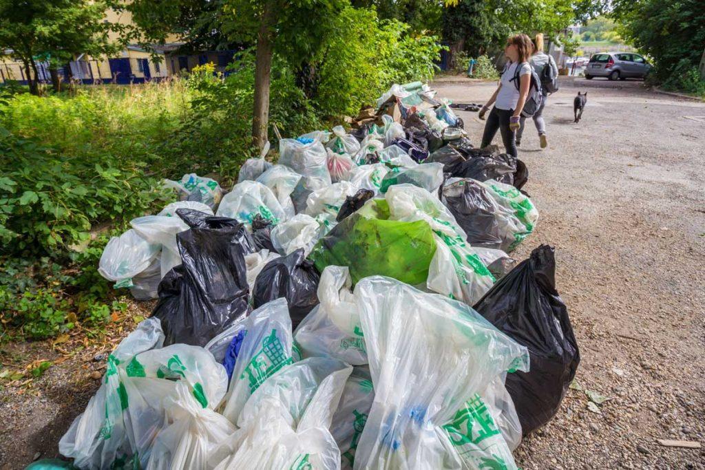 A hulladék mennyisége mutatja a népszigeti Teszedd esemény sikerét. Köszönjük. / Fotó: Cseke László - Hulladekvadasz.hu