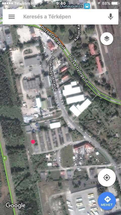 A bejelentő által beküldött helyszín. / Fotó: Google Maps