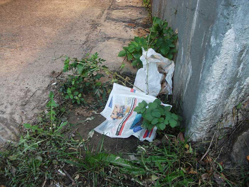 Dunaújváros aluljárójának helyszíne. Ha nincs már más mint az újságpapír ... / Fotó: hulladekvadasz.hu