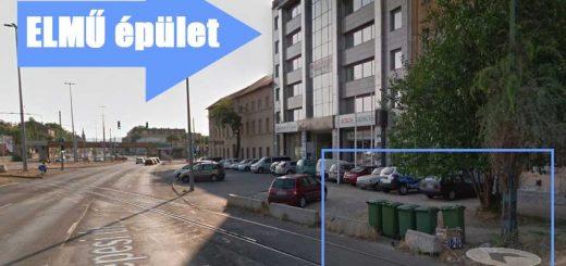 Zuglói ELMŰ épület mellett illegális szemétlerakó